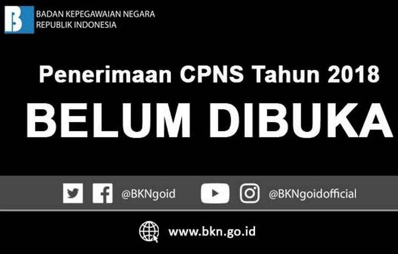 Jadwal Pendaftaran CPNS 2018 di sscn.bkn.go.id,