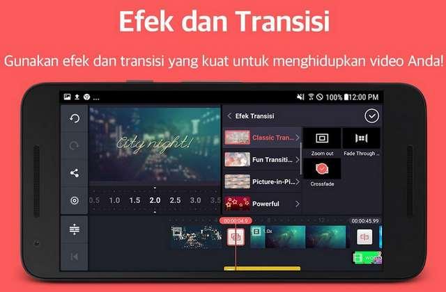 Menambahkan efek dan transisi saat mengedit video