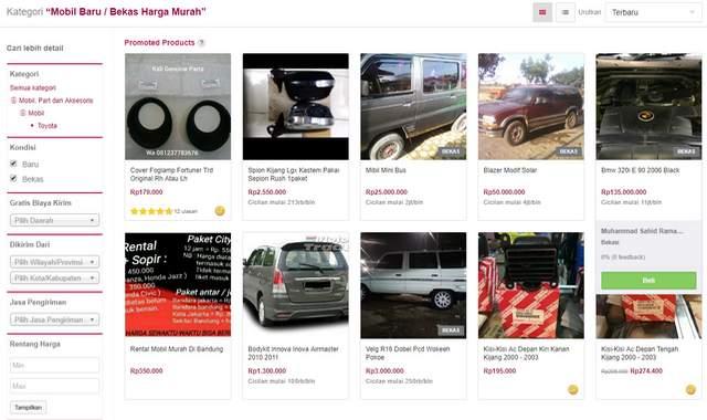 Beli Spare Part, Mobil Baru dan Mobil Bekas di Bukalapak