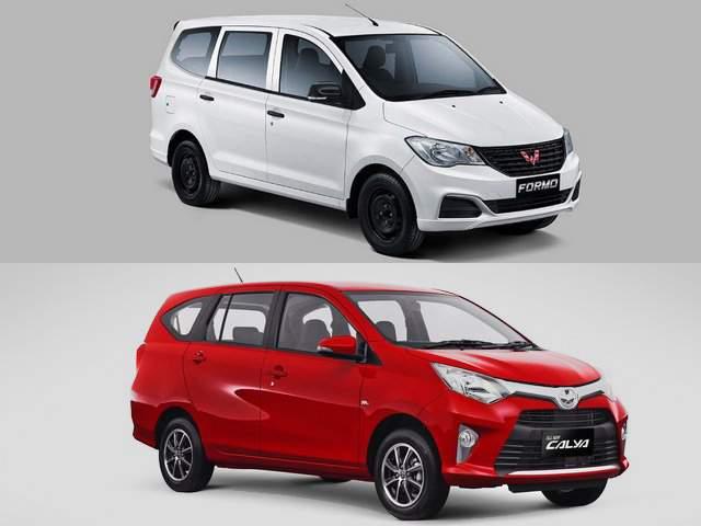 Harga Wuling Formo dan Toyota Calya