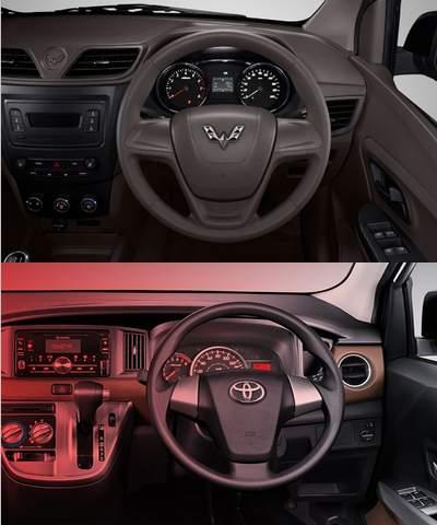 Interior Toyota Calya VS Wuling Formo