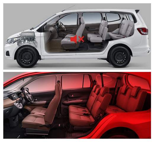 Interior Wuling Formo dan Toyota Calya