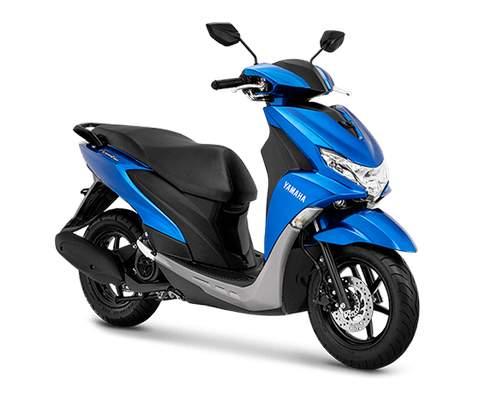 Gambar Yamaha FreeGo Warna Biru.