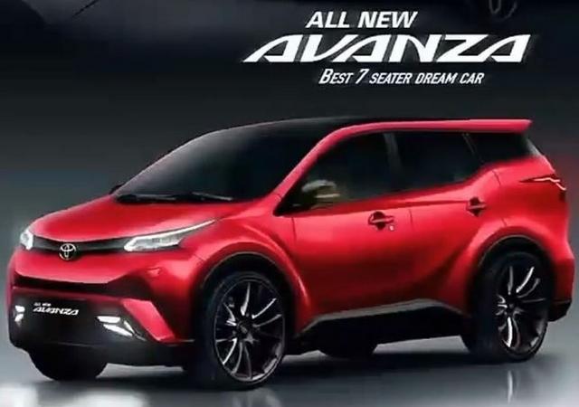 Eksterior Avanza 2019 warna merah Toyota Fortuner