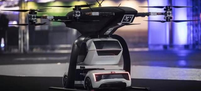 Mobil Terbang Audi Tampak Belakang