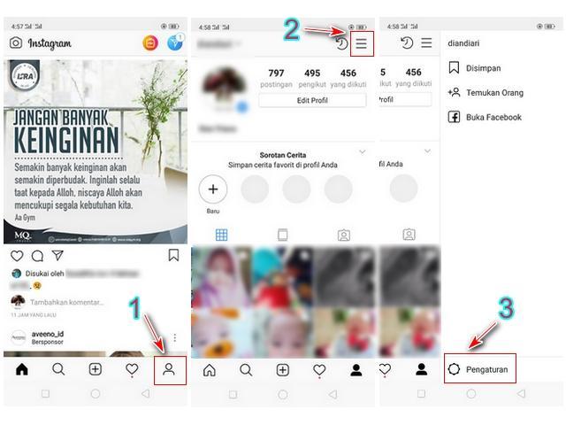 Profil dan Pengaturan Aplikasi Instagram