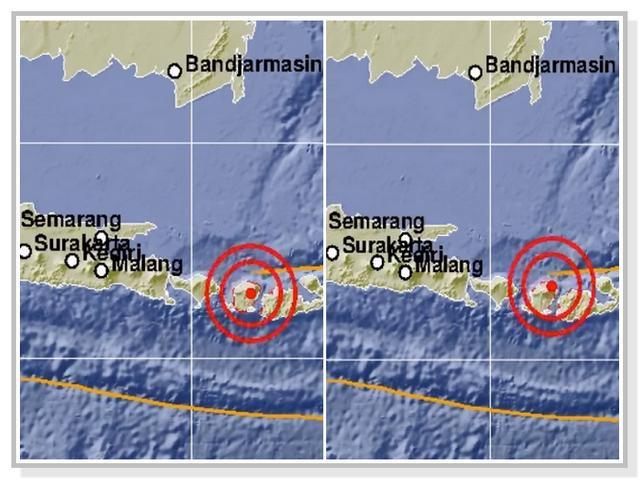Dua Lokasi Gempa Lombok hari ini yang dirilis BMKG