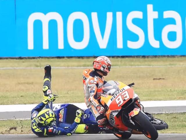 Insiden Rossi VS Marquez di MotoGP Argentina 2018