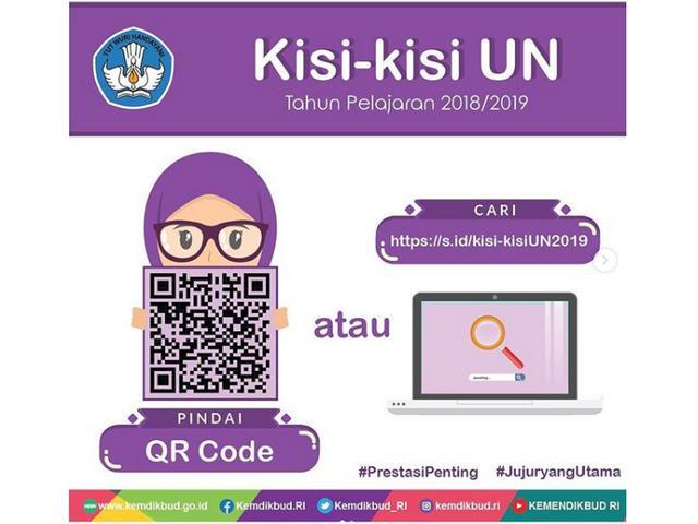 Kode QR dan Link Download Kisi Kisi UN 2019 dari Kemendikbud