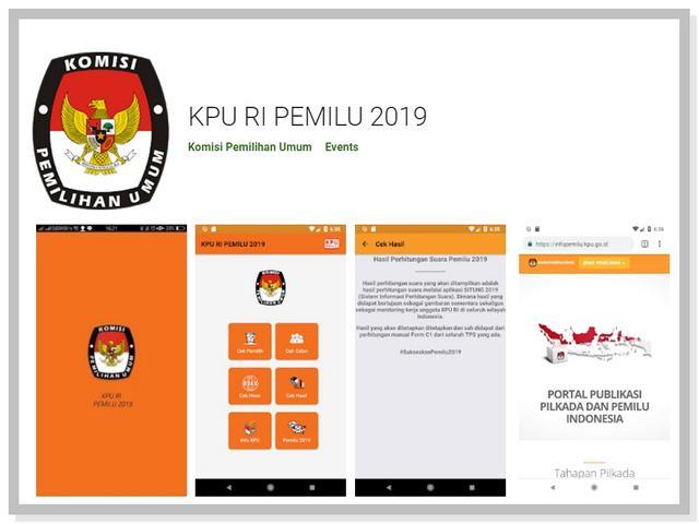 Aplikasi KPU RI Pemilu 2019
