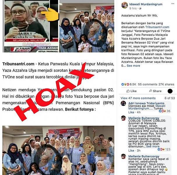 Berita dan Gambar Ketua Panwaslu Kuala Lumpur Pose Dua Jari HOAKS