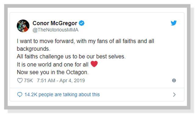 Cuitan Conor McGregor di Twitter Akan Kembali Ke Octagon