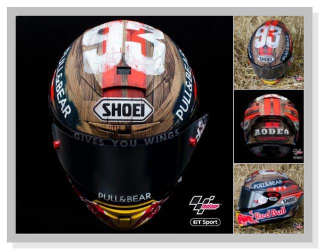 Helm Shoei Spesial Marc Marquez di MotoGP Amerika 2019