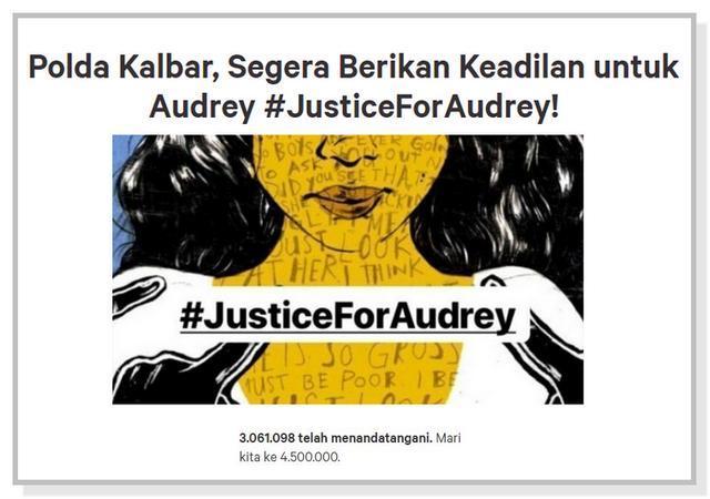 Petisi Dukungan untuk Audrey #JusticeForAudrey.