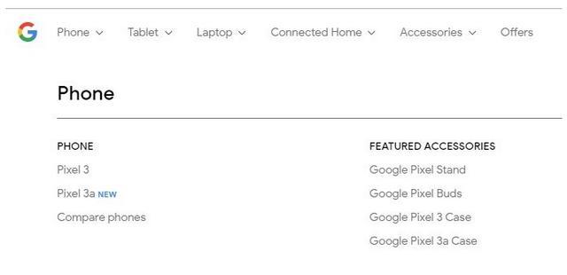 Smartphone Baru Pixel 3a di Website Google Store