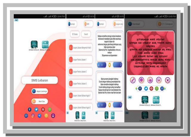 Aplikasi Ucapan Idul Fitri 1440 H dan SMS Lebaran 2019 untuk Android