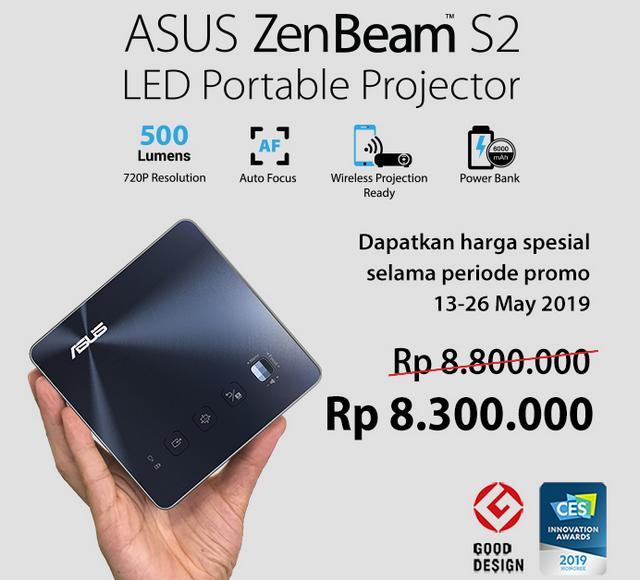 Harga Promo Proyektor Mini Asus ZenBeam S2