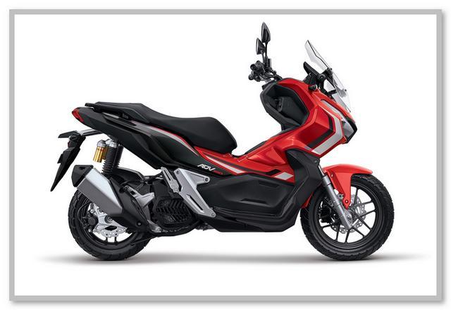 Gambar Honda ADV 150 Tipe ABS Warna Merah Advance Red