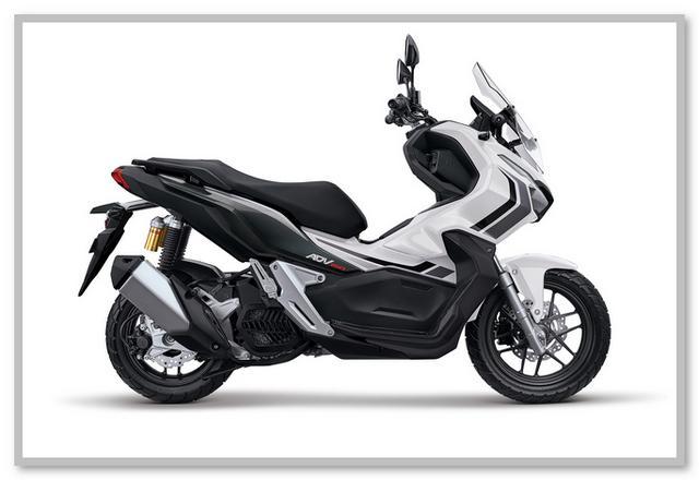 Gambar Honda ADV 150 Tipe ABS Warna Putih Advance White
