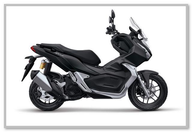 Gambar Honda ADV 150 Tipe CBS Warna Hitam Tough Matte Black