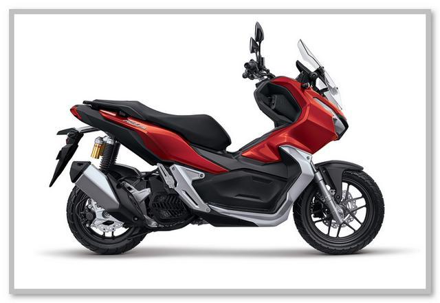 Gambar Honda ADV 150 Tipe CBS Warna Merah Tough Red
