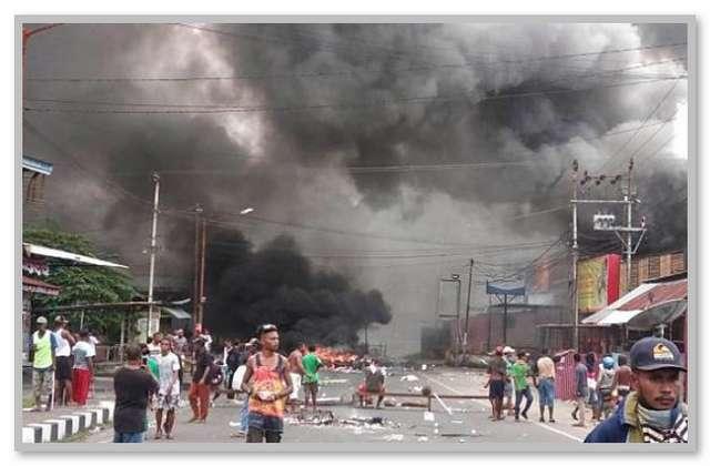 Kerusuhan di Manokwari Papua Barat