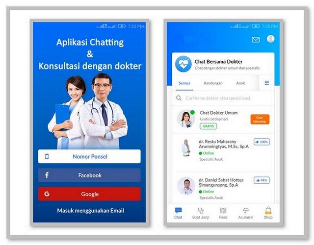 Aplikasi Chatting dengan dokter
