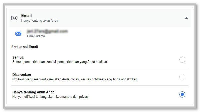 Cara Mengaktifkan Pemberitahuan Email Keamanan Akun Facebook