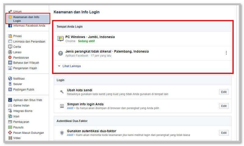 Cara Mengetahui Akun Facebook Kena Hack