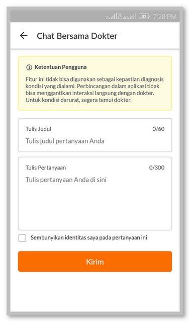 Fitur Chat Aplikasi Alodokter