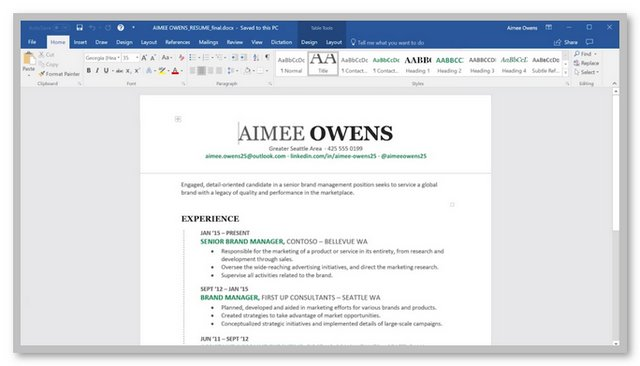 2019 Microsoft Office Word
