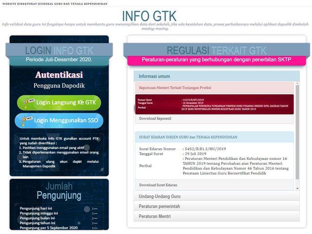 Login info.gtk.kemdikbud.go.id untuk Cek Penerima Dana BSU Kemendikbud