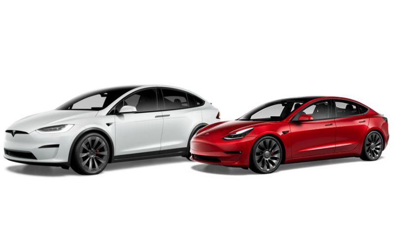 2021 Tesla Model X dan Model 3