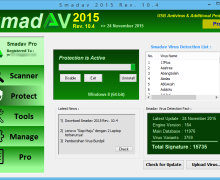 Virus Shortcut Tanpa Nama ( Bundpil ), Hapus Dengan Smadav 2015 Versi 10.4