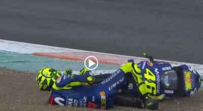 Hasil FP3 MotoGP Valencia: Diguyur Hujan, Valentino Rossi Crash